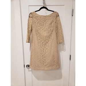 Nine West - Nude Lace Dress - Size 8